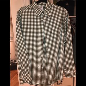 Green & white Brooks Brothers button down